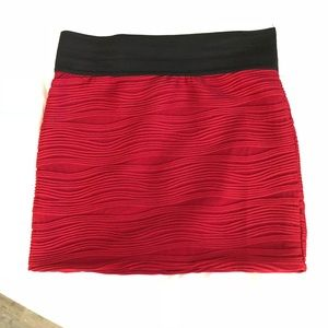 Charlotte Russe Red skirt size L